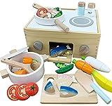 アレックス・サンガ サクッと切れるままごと 木製 磁石 食品衛生検査適合 キッチン コンロ 魚焼きグリル 遊んでしまえる お片付け (クッキングボックス ファーストセット CB1st)