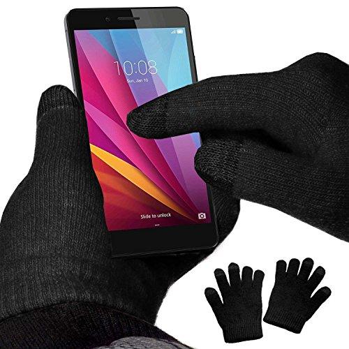 YaYago Écran tactile Gants Noir Taille universelle (env. M – L) pour Huawei Honor 9 Lite