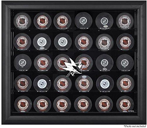 Mounted Memories San Jose Sharks Black Framed 30 Hockey Puck Logo Display Case