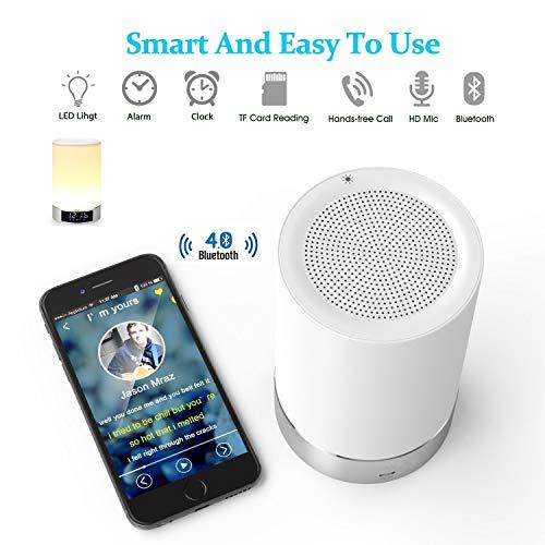 Generic L5 7 Lumière de réveil avec Alarme Bluetooth Blanc 8,8 x 8,8 x 14,1 cm