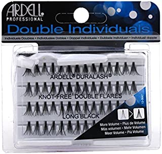 Ardell Double Individuals Knot Free Double Flares Black Long (3 Pack)