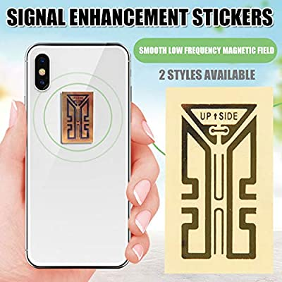MJTO Cell Phone Signal Booster Sticker 1/10 Pcs Cellphone Signal Enhancement Antenna Booster Stickers - Antenna Boosters for Cell Phones Tablets Pagers PDA's Cordless Home Phones