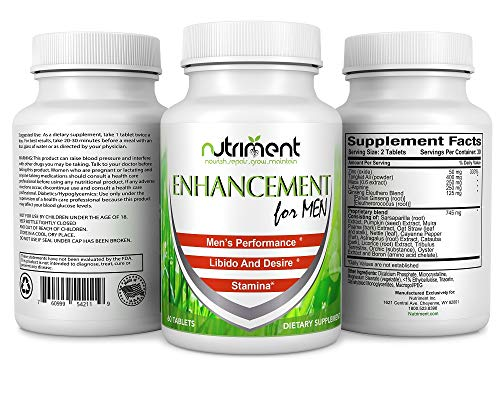 Enhancement for Men- Male Enhancing Pills- Enlargement Booster for Men- Increase Size Drive Stamina and Endurance- All Natural & Fast Acting Supplement- 60 Tablets