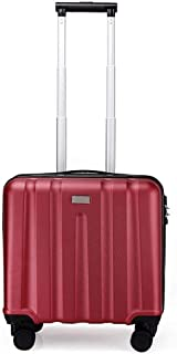 XLHJFDI Ultralight Business Trolley Case,ABS + PC Trolley Case,Stylish Boarding Chassis Silent Universal Wheel Suitcase (Color : Red)