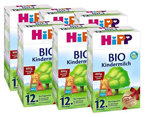 Hipp Bio Kindermilch - ab dem 12. Monat, 6er Pack (6 x 800g)
