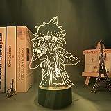 3D Night Light for Kids,Danganronpa V3 Nagito Komaeda Led Lamp for Bedroom Decor Danganronpa V3 Acrylic Neon Lamp Nagito Komaeda for Birthday/Xmas GIF