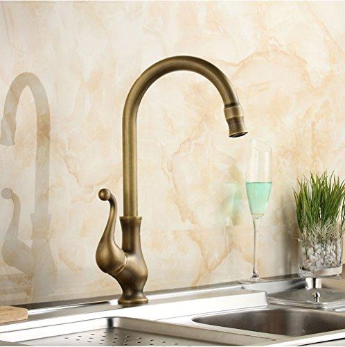 Cocina Grifos/grifo Articulación Antique Brass grifo cocina grifo Single Handle Vessel Sink Licuadora grifo