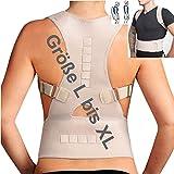 TOP & MARKE *Größe L bis XL* Rücken Rückenbandage Geradehalter zur Haltungskorrektur für Damen & Herren - orthopädisch mit 20% Baumwolle & 12 Magneten