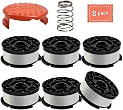 Weed Eater Spool Compatible with Black and Decker AF-100-3ZP ,30 Feet/0.065 Inch Line String Trimmer Generic Replacement Spool (6 Spool,1 Cap,1 Spring)