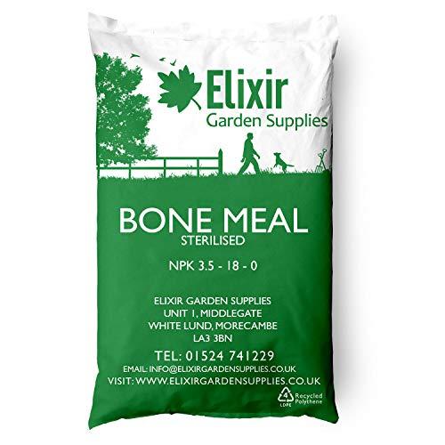 Elixir Gardens Bone Meal Organic Vegetable Flower Fertiliser 25kg Bag