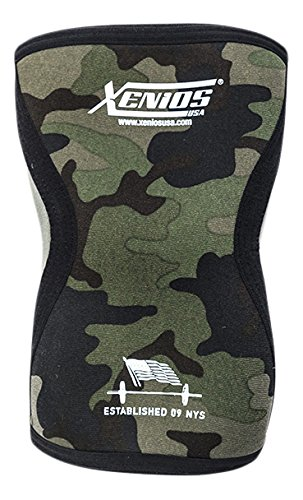 Xenios USA PSNYKNGD12, Ginocchiere Ergo Compression Neoprene Unisex-Adulto, Verde Camo, M
