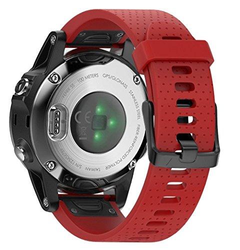 Cobar voor Fenix 6S, Fenix 6S Pro,fenix 6s pro saffier, Fenix 5S, Fenix 5S Plus Band, zachte siliconen vervangende horlogeband voor Garmin Fenix 5S en Fenix 5S PLUS Smart Watch, Fenix 5S, Red h
