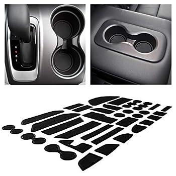 CupHolderHero for Honda Pilot Accessories 2016-2022 Premium Custom Interior Non-Slip Anti Dust Cup Holder Inserts Center Console Liner Mats Door Pocket Liners 33-pc Set  Solid Black
