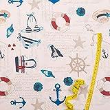 Hans-Textil-Shop Stoff Meterware Maritim Urlaub Strand
