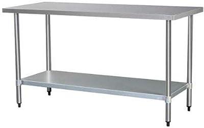 Garcia de pou Table de Travail sans Dosseret, Acier, Argent, 30x 30x 30cm