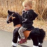 PonyCycle Officiel Classique U Série Montez sur Un Cheval Jouet Peluche Animaux promeneurs Cheval Noir pour Les Enfants de 3 à 5 Ans Petite Taille U326
