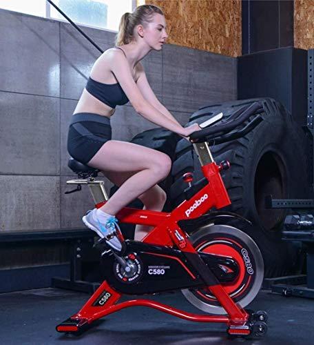 XUSHEN-HU Ejercicio Bicicleta estática Peso de capacidades Bicicleta Ciclismo Indoor con la tablilla de Soporte y Monitor LCD for el hogar Entrenamiento Interior