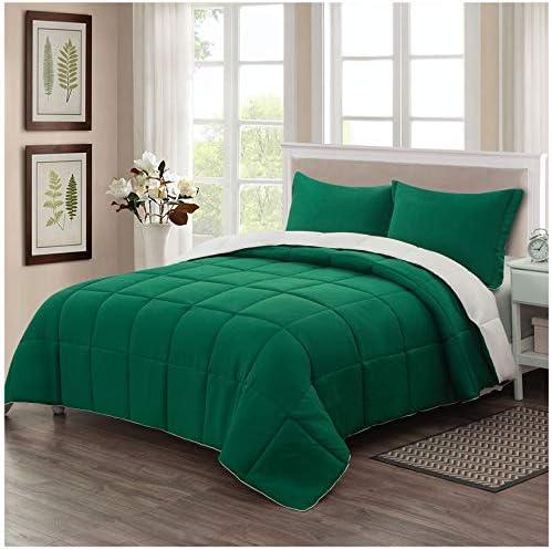 Homelike Moment Lightweight Comforter Set King Green Reversible All Season Down Alternative product image
