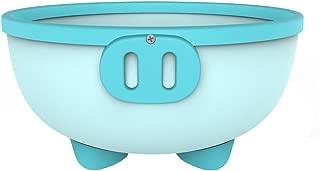 KIDSMILE Multi-Purpose Baby Plastic Wash Basin, Thickened Anti-Skid High Capacity Cartoon Baby Washing Basin, Lovely Piggy, Aqua
