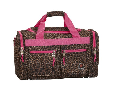 Rockland Duffel Bag, Pink Leopard, 19-Inch
