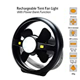 Businda Camping Fan with Night Lights, 2 in 1 Fan with Hook Mobile