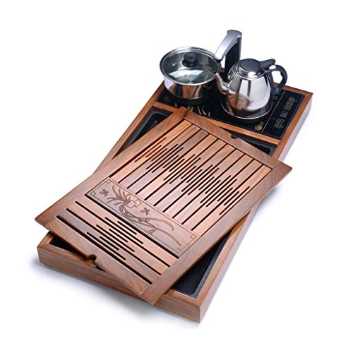 Lowest Prices! Teapots & Coffee Servers Teak tea tray Solid wood tea table Kung Fu Tea Sea Drawer te...