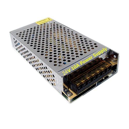 SHINA Industry-Standard AC 110V-240V To DC 24V 10A 250W Power Supply Regulated Switching Transformer Adaptor