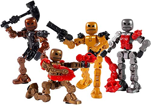 Klikbot Zing, Series 2 Villains, Complete set of 4 Poseable Action Figures with Weapons and Accessories, Includes Thrash, Bash, Warp and Blaze