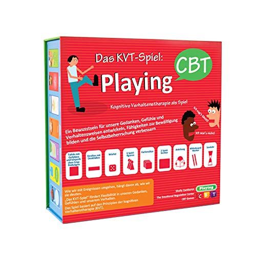 Playing CBT Das KVT-Spiel - EIN Therapiespiel zur Entwicklung des Bewusstseins für Gedanken, Gefühle und Verhaltensweisen zur Verbesserung von sozialen Fähigkeiten - German Version