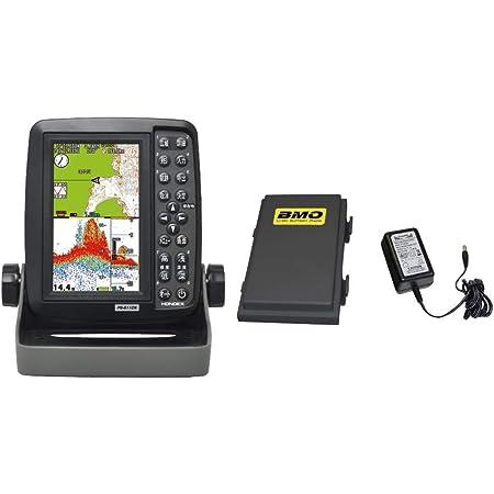 ホンデックス(HONDEX) 魚探 魚群探知機 ポータブルGPSプロッター魚探 GPS内蔵 5型ワイド PS-611CN-BM BMOバッテリーセット