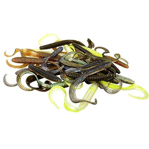 Savage Gear Rib Worm Kit (47 Teile), Gummiwürmer, Haken, Wirbel, Perlen, Angelset zum Barschangeln, Zanderangeln, Hechtangeln, Barschköder, Hechtköder, Zanderköder