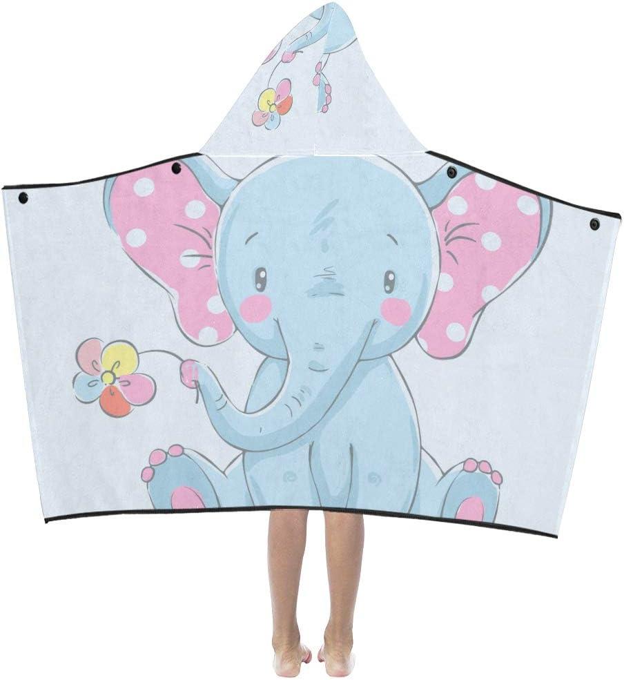JIAJIA Soft Tucson Mall Daily bargain sale Blanket Kids Cute Bla Animation Hooded Elephant