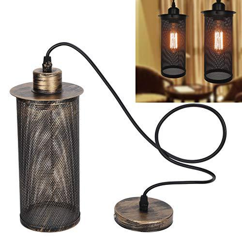 JADPES Pantalla para lámpara Colgante, Pantalla única para terrazas para recibidores de restaurantes para pasillos para Salas de Estar para dormitorios para cocinas(Sweep Golden, Transl)
