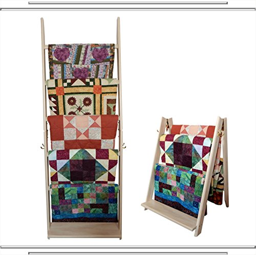 Read About The LadderRack 2-in-1 Quilt Display Rack (5 Rung/24 Model/Whitewash)