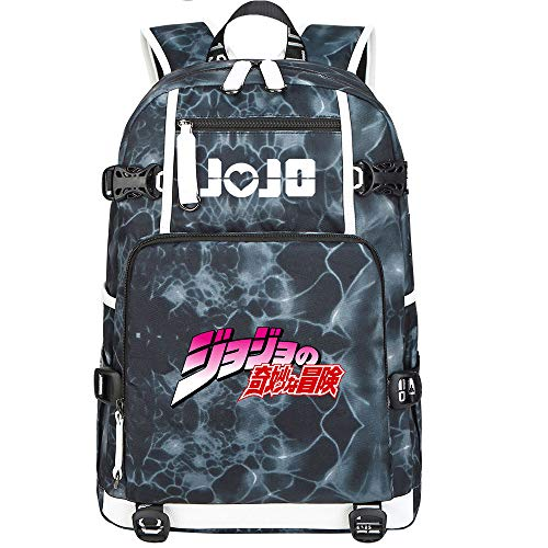 GOYING JoJo's Bizarre Adventure Jonathan Joestar/Joseph·Joestar Shoulder Bag Outdoor Backpack for Plenty of Storage Bag USB Unisex-B