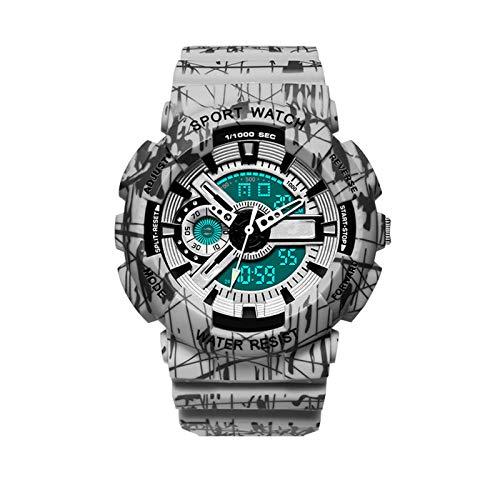 Acher Sport Men's Watch, Waterproof Machanical Watch, Fashionalble Watch for Highschool Student (Color : Gray)
