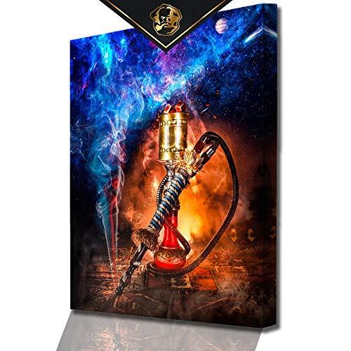 DotComCanvas® XXL Shisha-Bar-Wandbild für Erfolg   Leinwand direkt Aufhangbereit Shisha Galaxy (40 X 30 cm)