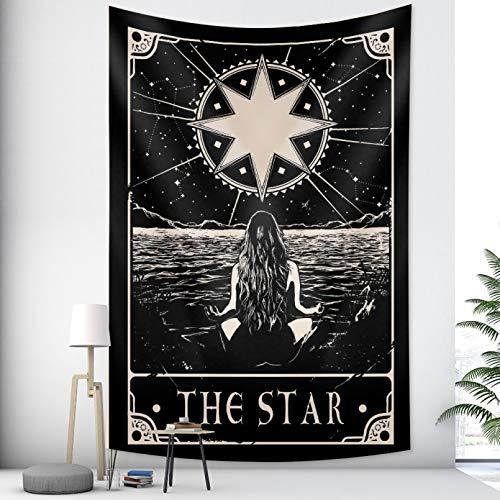 N/A Impresión 3D de tapices Tapiz de Mandala Indio de Marca de Tarot, Tapiz de Estilo Bohemio, decoración del hogar, colchón Hippie Alfombra de Picnic Regalo de Arte doméstico