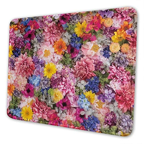 Flower Multi-Size Gaming Mouse Pads for Adults and Children are Suitable for Office, Gaming, and Learning 10 X 12 Inch