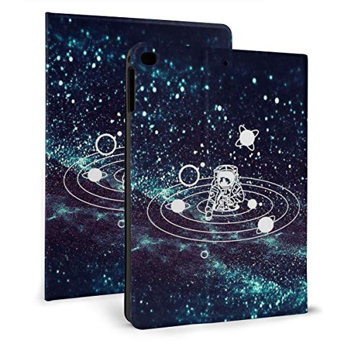 Case Ipad 9.7 Inch 2017/2018 (Mini4/5) - Soft Leather Stand Folio Case Cover For Ipad 7.9 Inch, With Multiple Viewing Angles, Auto Sleep/Wake, Galaxy Astronaut