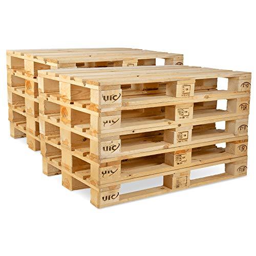Pronovation IPPC Europalette NEU - 10 Paletten aus Vollholz - Holzpaletten Maße: 120x80 cm - Fabrikneu, Fichte