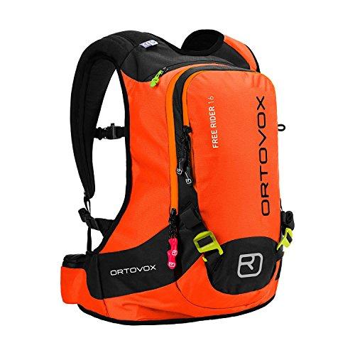 Ortovox, zaino da montagna Free Rider, colore Crazy Orange, 44 x 27 x 20 cm, 18 l, 4676200003