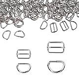 HEEFEN 40 Stück Metall Schnallen 32mm 25mm Gurtversteller D Ringe für Handtaschen, Geldbeutel,...