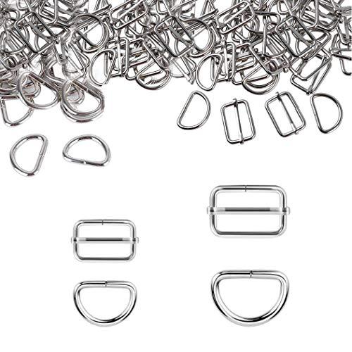 HEEFEN 40 Stück Metall Schnallen 32mm 25mm Gurtversteller D Ringe für Handtaschen, Geldbeutel, Gurt, Rucksack