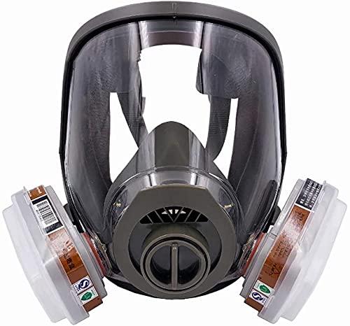 6800 Vollmaske, Atemschutzmaske, Gasmaske, für Spraymalerei, Benzolverhütung 3M