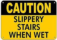 濡れたときの滑りやすい階段濡れたときの滑りやすい看板アルミ金属看板