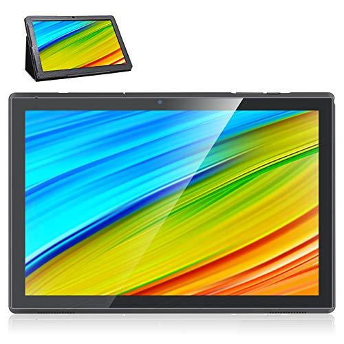 Tablet con supporto integrato per custodia, tablet Android da 10 pollici, 3 GB di RAM 32 GB di spazio di archiviazione, doppia fotocamera da 5 MP + 8 MP, WiFi, 1.6 GHz, Tablet WiFi HD IPS (nero)