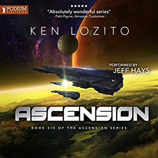 Ascension     Ascension, Book 6              Written by:                                                                                                                                 Ken Lozito                               Narrated by:                                                                                                                                 Jeff Hays                      Length: 7 hrs and 33 mins     3 ratings     Overall 4.7