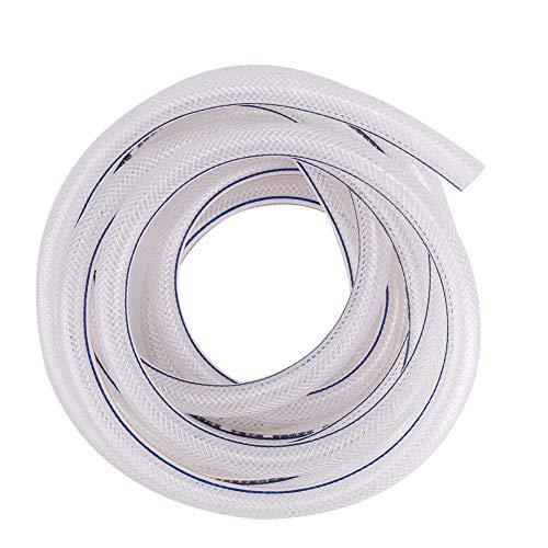 Manguera de riego de PVC, manguera transparente Manguera de PVC transparente/tubería de agua Manguera de PVC, tubo flexible, 8/12 mm para riego de jardines industriales y(3 meters)