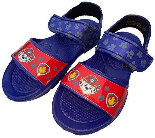 Paw Patrol Sandalen Badeschuhe Schuhe für Jungen, rutschfeste Sohle, Klettverschluss, Kinderschuhe Sommerschuhe Schwimmschuhe Hausschuhe Blau Gr.28/29